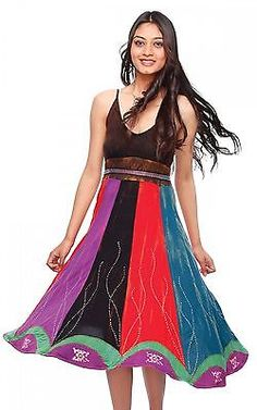 Viscose Striped Dress