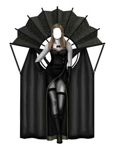 https://paperdollfollies.files.wordpress.com/2011/05/death-2.jpgby Joseph Mancha Death in the Orient A new outfit for the death paper doll. It was inspired by Asian fashions. The top piece was designed after a Chinese fan. I have attached a drapery to mimic a cape. The dress was modeled after a cheongsam. She is wearing stockings and black leather boots.