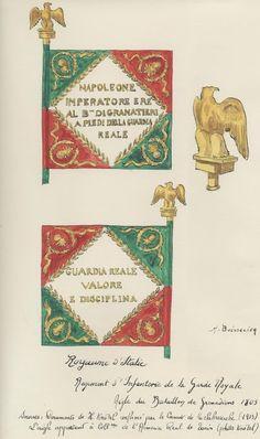 Bandiera di guerra della Brigata granatieri reali del regno d'Italia