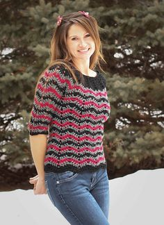 Ravelry: dragonbird's Chevron stripes 3 season sweater Free Pattern!
