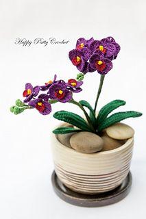 Orchid, Mini Moth (Phal) by Happy Patty Crochet - Ravelry - $4.00