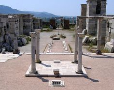 The tomb of John the Apostle at Ephesus, near Selçuk, Turkey.