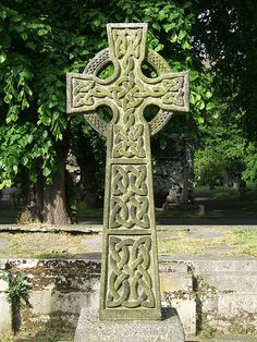 Celtic Cross. Crosses represent the bridge or the passage between heaven and earth. The circle in the ringed cross signifies infinity and eternal spiritual love.