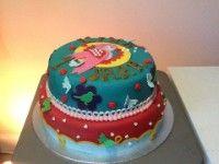 pip-stijl taart #vogeltje #stippen