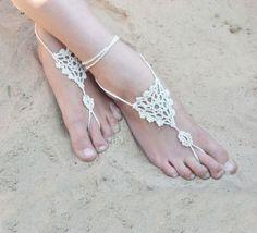 Barefoot Sandals Crochet Pattern | DIY Beach Wedding Ideas on a Budget | DIY Beach Wedding Gifts