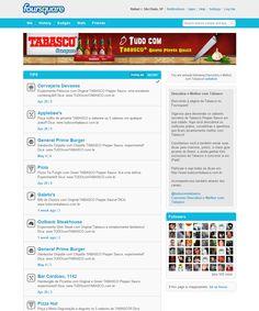 Página da Tabaco no Foursquare. Guia Colaborativo de pratos e comidinhas apimentadas! (2011)