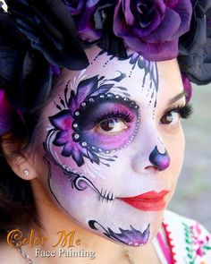 Sugar Skull Makeup - Color Me Face Painting - Vanessa Mendoza