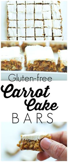 These Healthy, No Bake gluten-free Carrot Cake Bars are  one of the best healthy desserts I've ever made!  Leave off the frosting and you have a great snack or breakfast bar! Love this recipe!