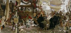 The Athenaeum - ORTIZ, Francisco Pradilla Spanish Realist (1848-1921)_Baptismal Procession of Prince Juan through the Streets of Seville- 1910