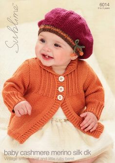 Sublime - 6014 - Vintage Smock Coat and Little Ruby Beret (birth to age 3)