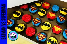 Today I made Batman V Superman Cupcakes, had to make some Wonder Woman too! And as always, if you loved it, LIKE IT, SUBSCRIBE IT, AND SHARE IT! Watch it on YouTube Batman Vs Superman Super hero party Super hero cake