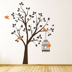 [Homepage Parkins Interiors Tree With Bird Cage Wall Stickers Asian Paints Bedroom Colours Images] branch with blossom wall stickers parkins interiors Wall Stickers Images, Wall Stickers Family, Wall Stickers Wallpaper, Wall Stickers Animals, Kitchen Wall Stickers, Bird Wallpaper, Vinyl Room, Vinyl Art, Vinyl Wall Decals