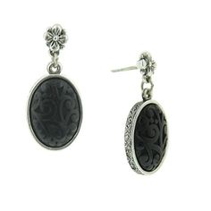 Day & Night Jet Black Drop Earrings