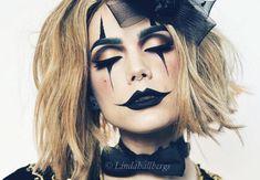 Sexy clown makeup for Halloween – Halloween Make Up Ideas Halloween Inspo, Halloween Makeup Looks, Halloween Photos, Scary Halloween, Halloween Costume Makeup, Doll Costume, Masque Halloween, Costume Dress, Cute Clown Costume