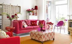 pink-couch-red-white-shabby-country-urban-home-interior-better-decorating-bible