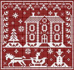 winter cross stitch assisi embroidery #freecrossstitch