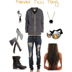 """""""Female Ticci Toby"""" by alainadorsett on Polyvore"""
