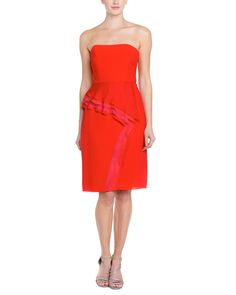Spotted this Badgley Mischka Strapless Ruffled Dress on Rue La La. Shop (quickly!).