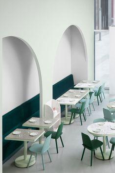 green dining room at china's budapest cafe. / sfgirlbybay