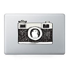 """<a href=""""http://Amazon.com"""" rel=""""nofollow"""" target=""""_blank"""">Amazon.com</a>: Artsybb Vintage Camera Vinyl MacBook Decal Stickers. Best High Resolution Decal for Laptop Apple MacBook Air/Pro Unibody 13"""" 15"""" inch. Thin Removable Protective Skin Decorations Stickers (Black): Cell Phones & Accessories"""
