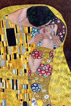 Klimt - The Kiss (Luxury Line) - Hand painted oil painting reproductions available at overstockArt.com #art