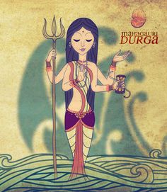 Mahagauri is the eighth manifestation of goddess Durgaamongst the Navadurgas. Mahagauri is worshipped on the eighth day of Navratri. According to Hindu mythology, Goddess Mahagauri has the power to. Goddess Art, Durga Goddess, Durga Painting, Maa Durga Image, Durga Images, Shiva Art, Mother Goddess, India Art, Hindu Deities
