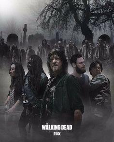 "AMC The Walking Dead Season 8 TV Poster 18x12/"" Fabric Print Product"