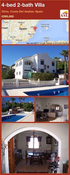 4-bed 2-bath Villa in Oliva, Costa Del Azahar, Spain ►€295,000 #PropertyForSaleInSpain