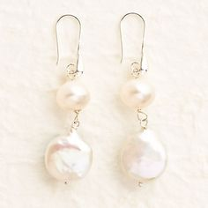 Pearl earrings- plain, but they sell.