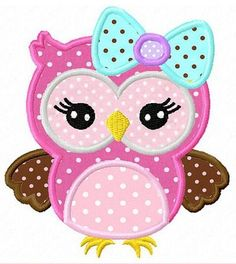 Cute girly owl with bow,owl Digital Applique Design inch-Machine Embroidery Applique Design Owl Applique, Applique Templates, Machine Embroidery Applique, Applique Patterns, Applique Quilts, Applique Designs, Quilt Patterns, Owl Embroidery, Owl Templates