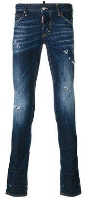 DSQUARED2 Men's Blue Cotton Jeans.