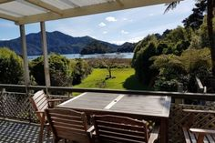 A fully equipped holiday home in an easy accessible location. Direct access to water in front of the bach, larger boat launching ramp and jetty 2 minutes down the road. Tenting area available. Holiday Accommodation, Outdoor Games, Outdoor Furniture, Outdoor Decor, Places To Go, Bbq, Deck, Water, Easy