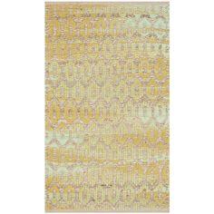 Safavieh Cape Cod Handmade Natural / Green Jute Natural Fiber Rug (2'3 x 3'9) , Size 2' x 4' (Cotton, Geometric)