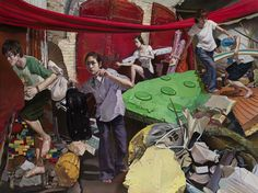 Tangshi is a painter based out of Changsha City, Hunan Province, China. Many of his beautifully rendered paintings have a photo-journalistic feel with a unique twist of surrealism. Possibly a modern Chinese Norman Rockwell?