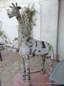 Cómo hacer figuras de papel maché. ¡Haz una jirafa de 2 metros!