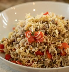 Ground Beef Rice, Beef And Rice, Easy Skillet Meals, Quick Meals, Small Pasta, Those Recipe, One Pot Meals, Vegetable Dishes, Weeknight Meals
