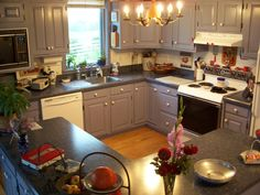 The farmhouse kitchen at the bed and breakfast (Country Life B&B, Greenwich, NY).