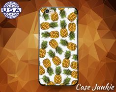 White Pineapple Pattern Fruit Summer Tumblr Cute Rubber Custom Case For iPhone 4 and 4s and iPhone 5 and 5s and 5c and iPhone 6 and 6 Plus +