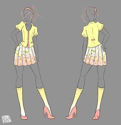 Female Geek Chic by Izumi-sen on DeviantArt Clothing Sketches, Dress Sketches, Manga Clothes, Drawing Clothes, Fashion Design Drawings, Fashion Sketches, Anime Dress, Dress Drawing, Character Outfits