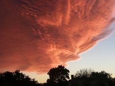 Fiery clouds at sunset in New Jersey.