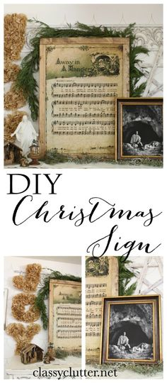 DIY Christmas Song Sign - Click for tutorial.