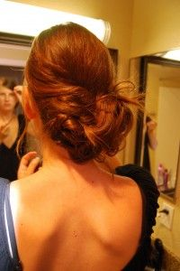 updo that works on long or short hair