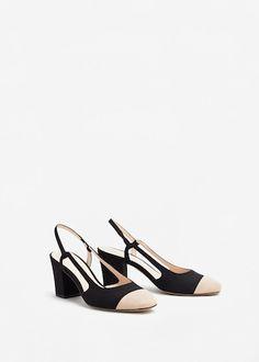 Zapato destalonado bicolor - Zapatos de Mujer | MANGO Islas Canarias