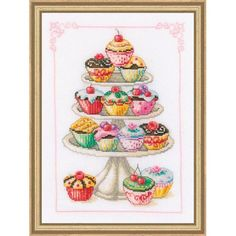 Cupcake cross stitch kit from Europe