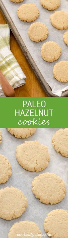 These quick and easy paleo hazelnut cookies are gluten-free, grain-free, and egg-free. They are nutty, chewy and not too sweet — perfect with a cup of hot chocolate.