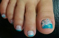84 best toe nail art ideas in 2019 048 Toenail Art Designs, Pedicure Designs, Toe Nail Designs, Foot Pedicure, Pedicure Nail Art, Toe Nail Art, Pretty Toe Nails, Cute Toe Nails, Latest Nail Designs