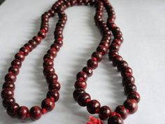 Red Sandalwood Buddhist Rosewood Beads  108 Beads Meditation Yoga Rosa | Beadsincredible - Jewelry on ArtFire
