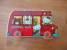 Hello Kitty School Bus pencil case