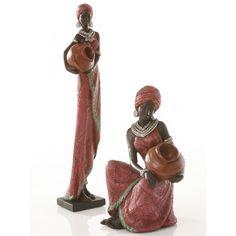 figura-resina-africana-rojo