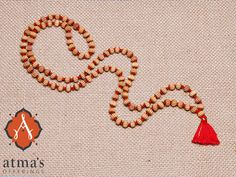 This sweet smelling mala helps overcome obstacles on the Yogic path. #malabeads http://atmasofferings.com/product/sandalwood-mala-carved/